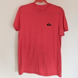 Quicksilver Red Short Sleeve Basic Tee